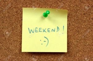 4014171-yellow-small-sticky-note-on-an-office-cork-bulletin-board-weekend-happiness-stock-photo